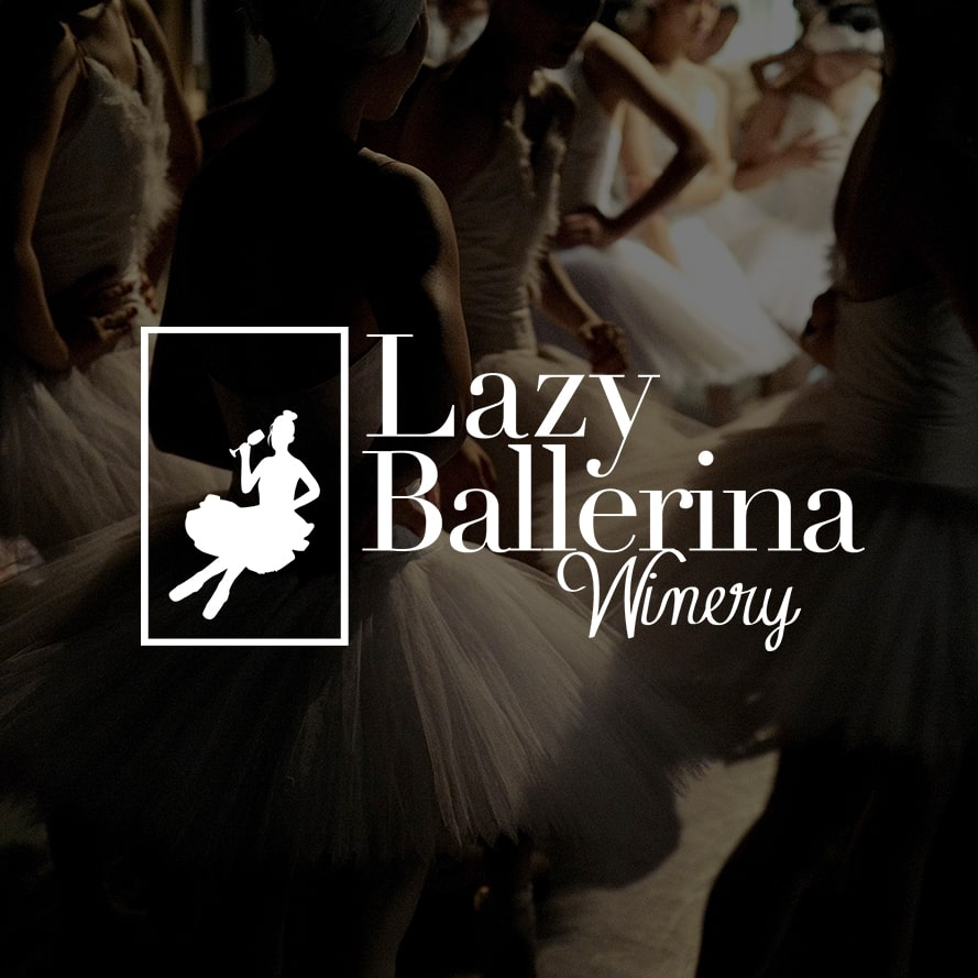 Lazy Ballerina Winery | Custom Logo Design