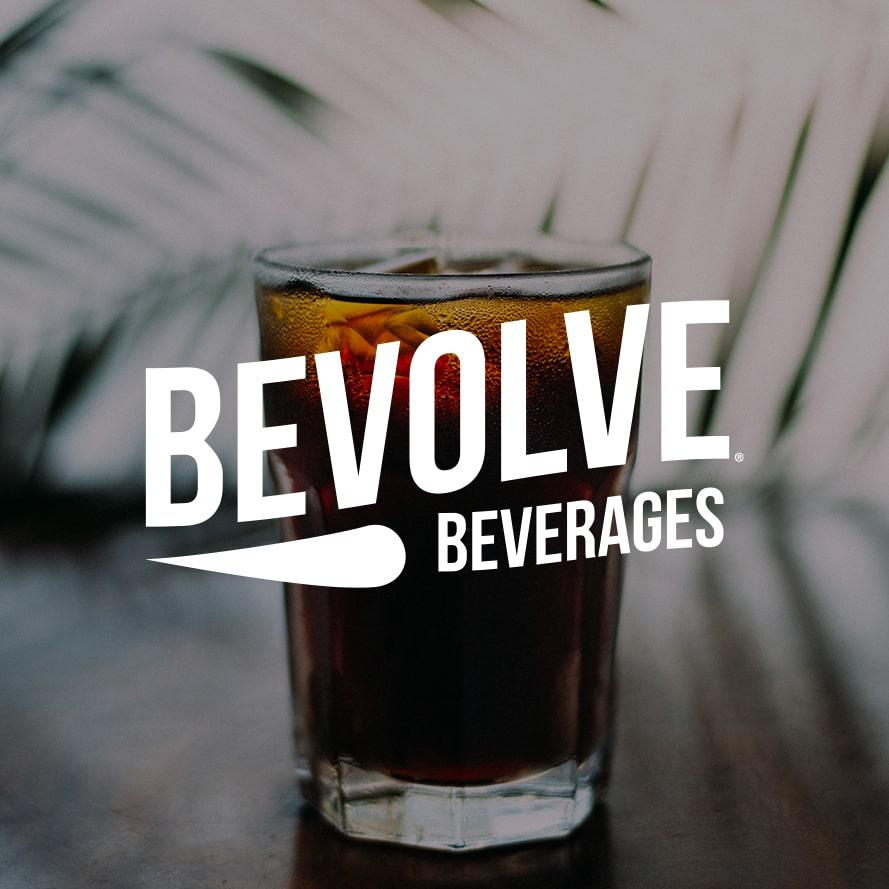 Bevolve Beverages | custom logo design