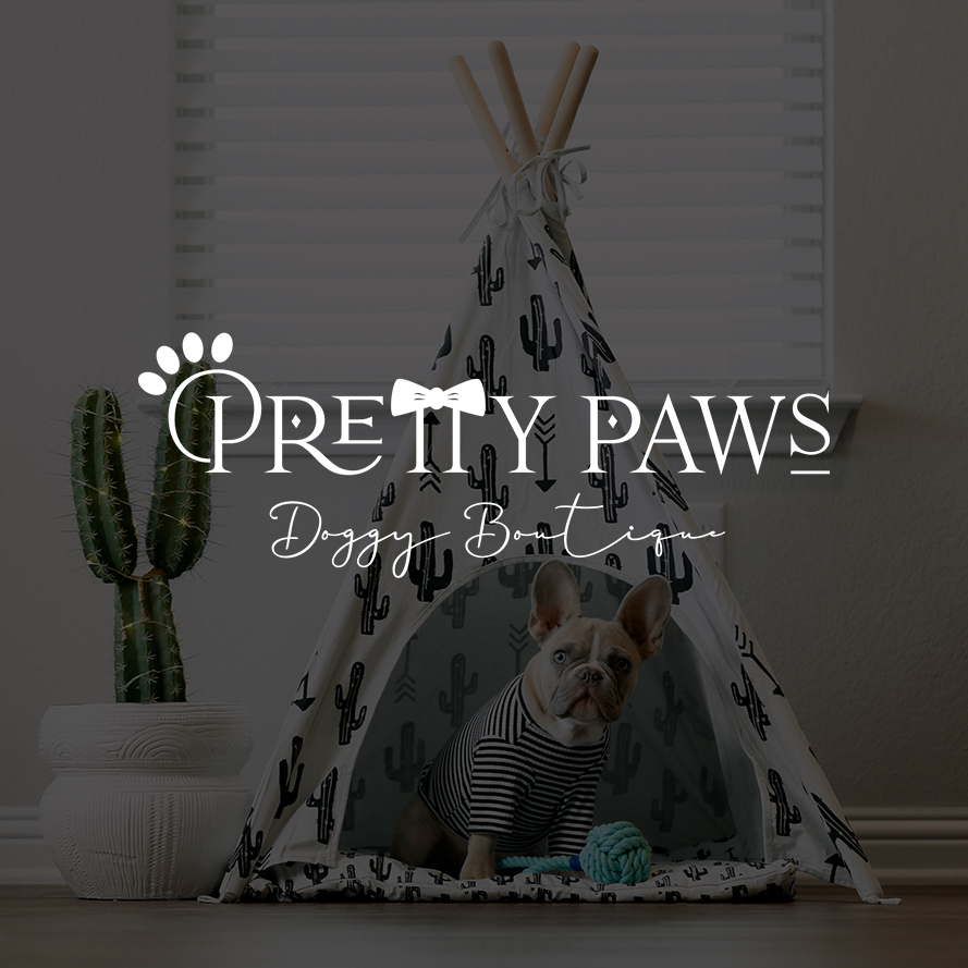 Pretty Paws | custom logo design